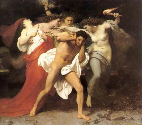 復讐の女神たちに追われるオレステス 小.jpg